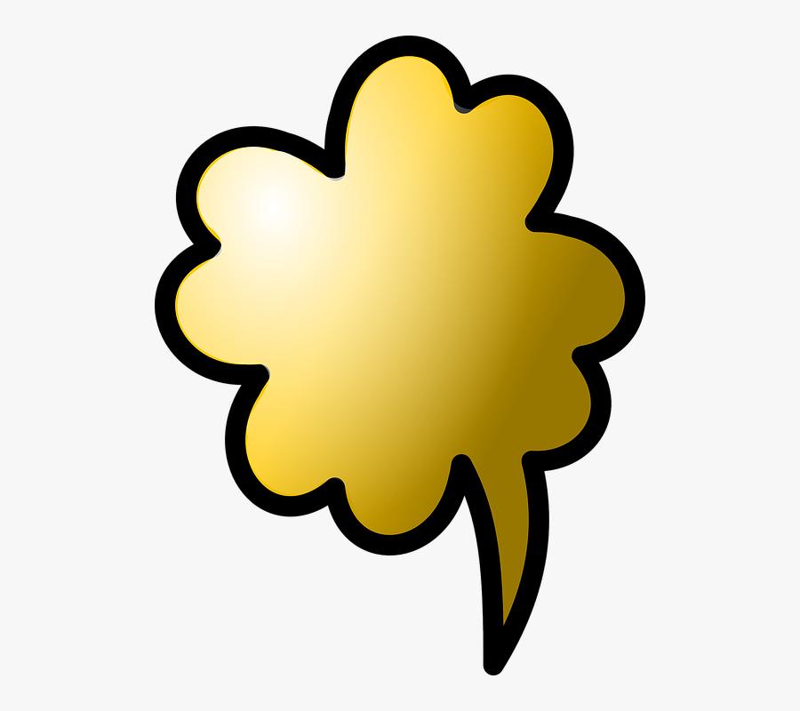 Cloud, Gold, Cloud Computing, Virtual, Www - Bubble Speech Gold, Transparent Clipart
