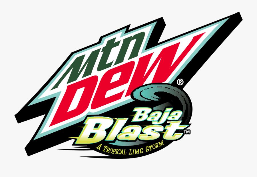 Bajablast - Mountain Dew Baja Blast Logo, Transparent Clipart