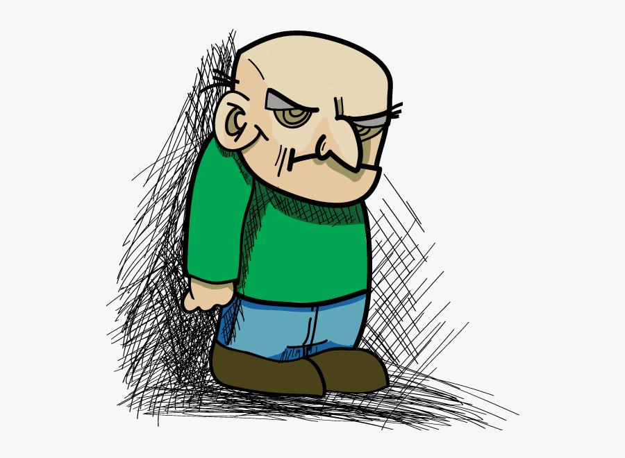 Drawn Grumpy Old Man, Transparent Clipart