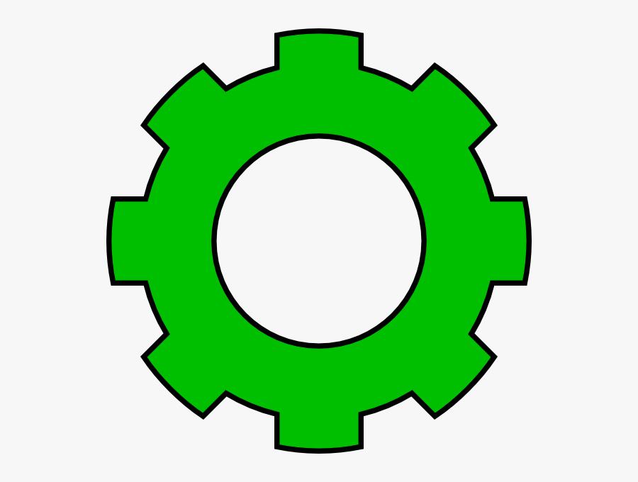 Green Clip Art At - Gear Clipart Grey, Transparent Clipart