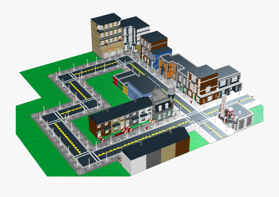 Lego Custom Town - Lego Modular Buildings City, Transparent Clipart