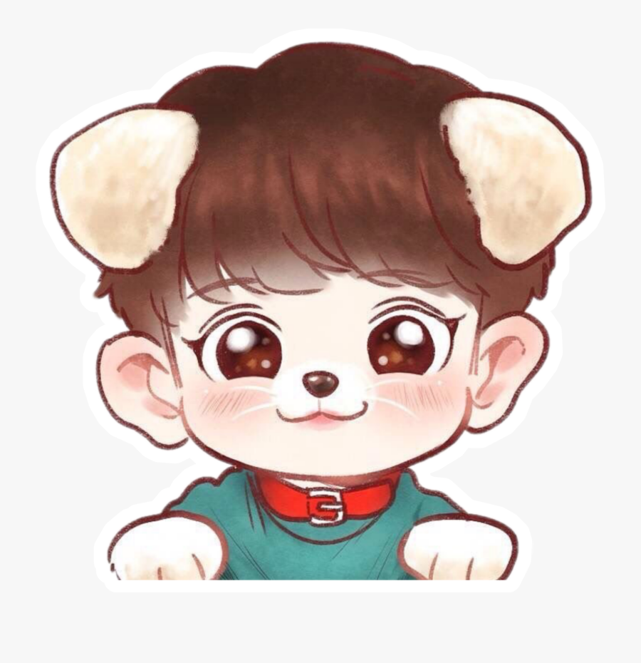 How To Draw Cute Kawaii / Chibi Puppy Dogs With Easy - Exo Chanyeol Chibi Png, Transparent Clipart