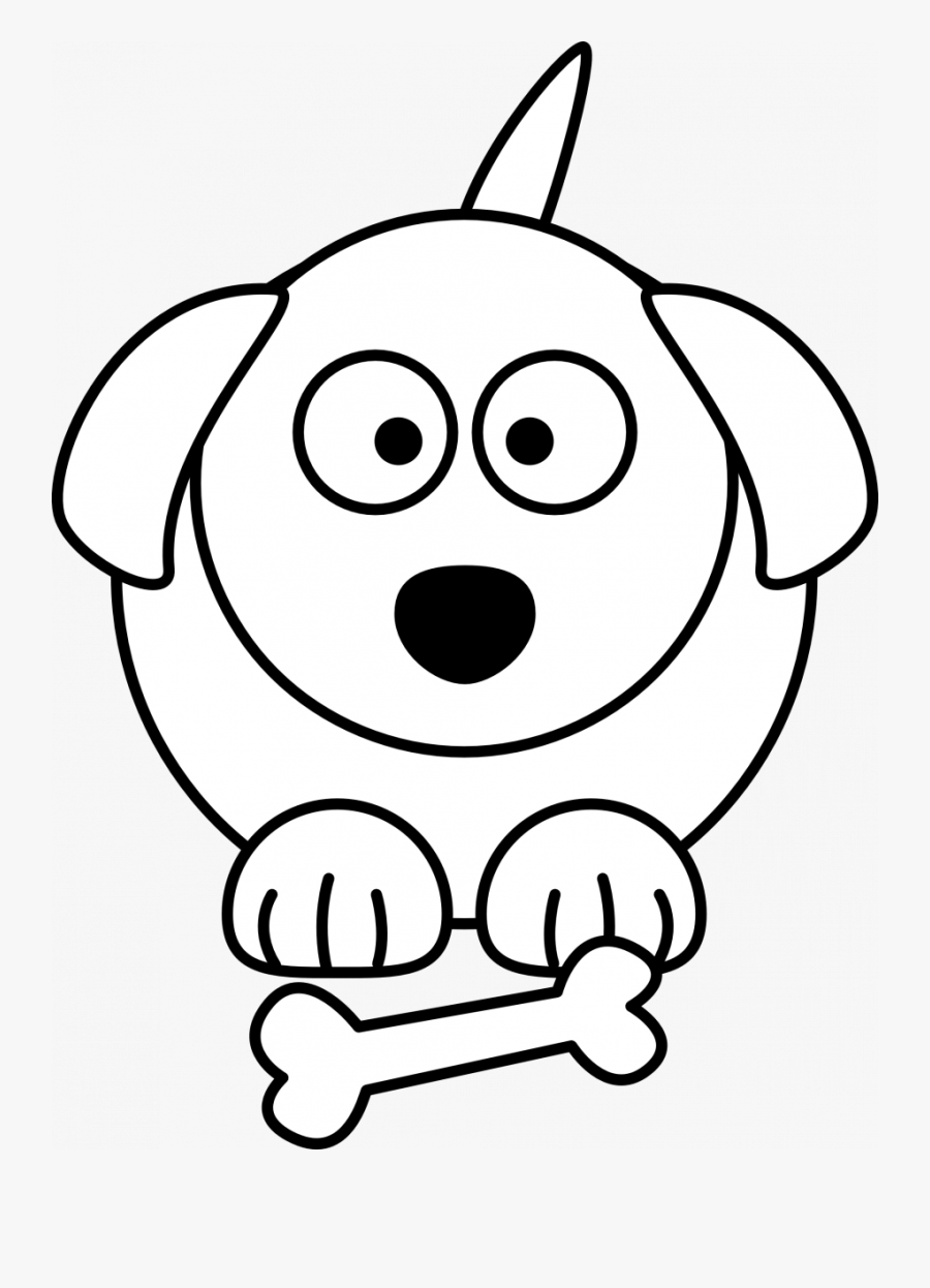 Cartoon Dog Clipart Black And White, Transparent Clipart