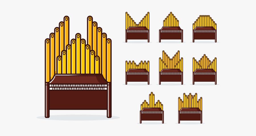 Cliparts Organ Pipes - Illustration, Transparent Clipart