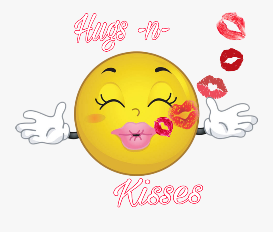 #hugs #kisses #smiley - Kisses Smiley, Transparent Clipart