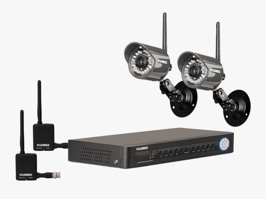 Transparent Security System Clipart - Lorex Wireless Security Camera System, Transparent Clipart