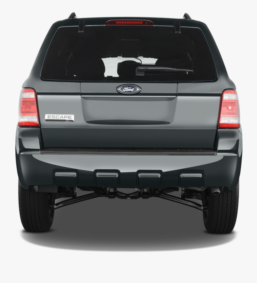 Transparent Back Of Car Clipart - 2012 Ford Escape Rear View, Transparent Clipart