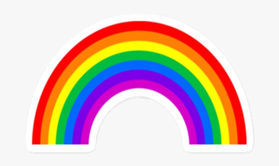 Sticker Rainbow, Transparent Clipart