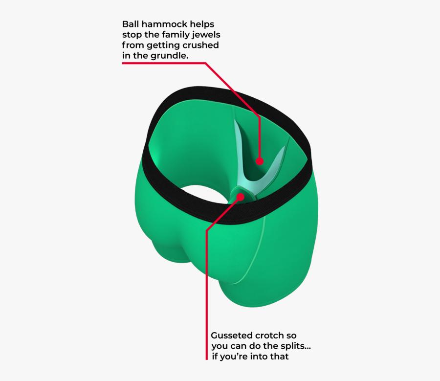 The Green Grundle - Hot Dog Ball Hammock, Transparent Clipart