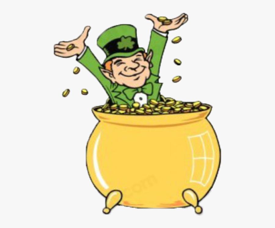 Leprechaun With Gold Gif, Transparent Clipart