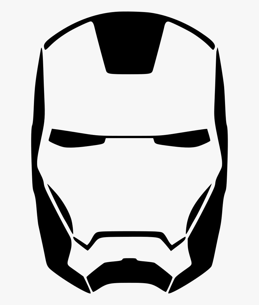 Iron Man Clipart Iron Element - Iron Man Mask Sketch, Transparent Clipart