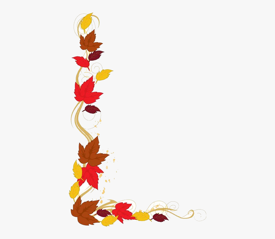 Fall Free Shopping Cliparts Clip Art Transparent Png - Cartoon Fall Leaves Border, Transparent Clipart