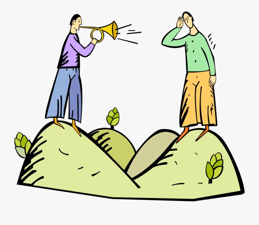 Trumpet Vector Image Illustration, Transparent Clipart