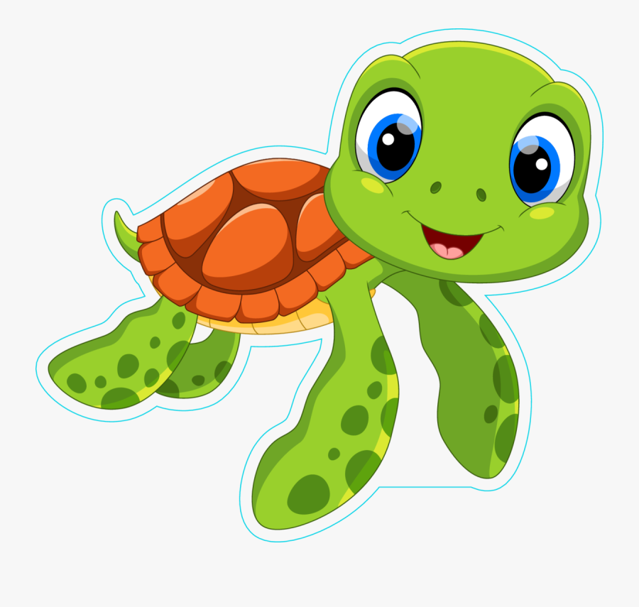 Cute Sea Turtle Cartoon Sticker Cute Sea Turtle Clip Art Free