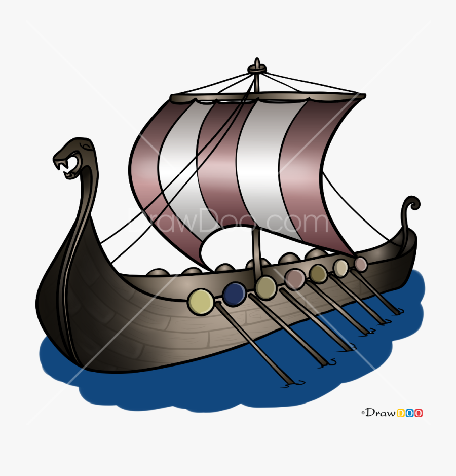 How To Draw Drakkar, Vikings - Viking Ships, Transparent Clipart