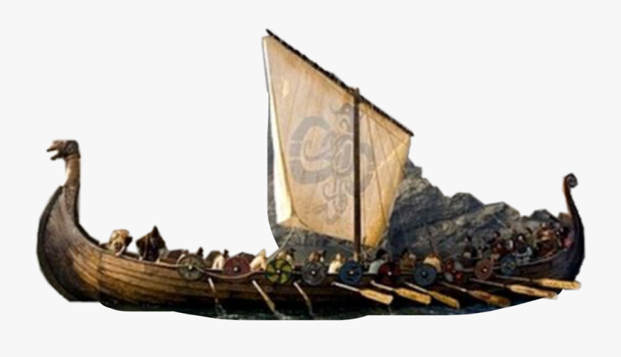 #vikings #ship #boat #war #flag #sail #crew #history - Vikings On The Sea, Transparent Clipart