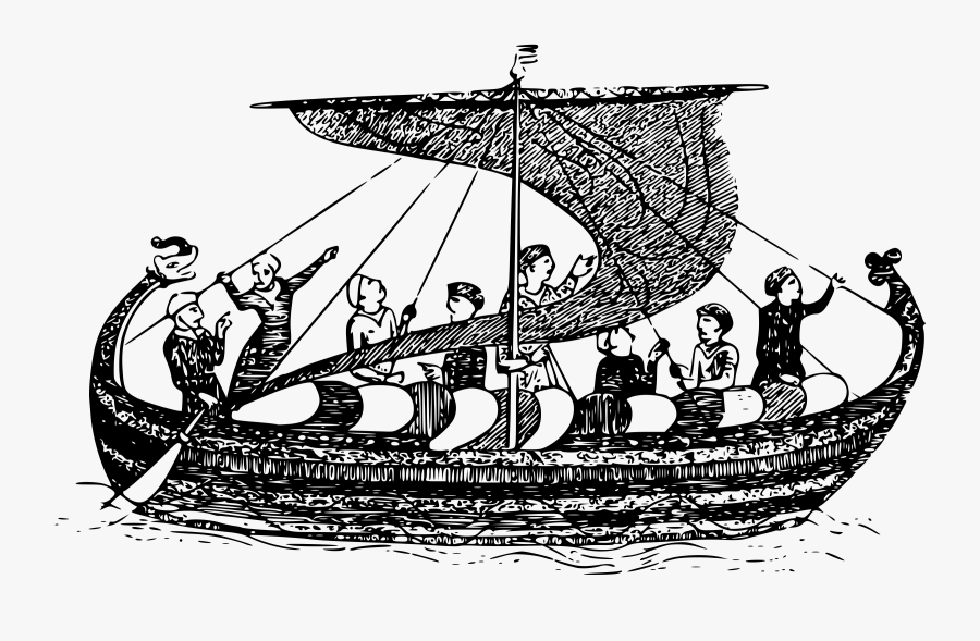 Viking Longboat Clip Arts - Viking Age Png, Transparent Clipart