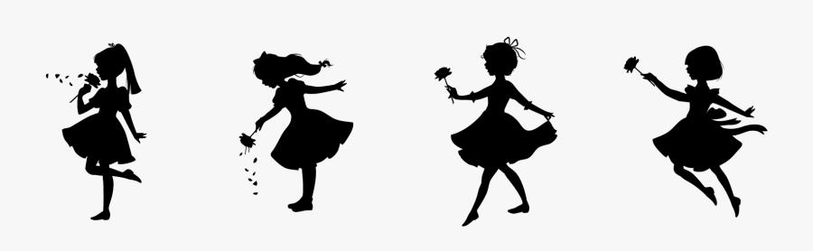 Transparent Shadow Puppet Clipart - Little Girl In Dress ...