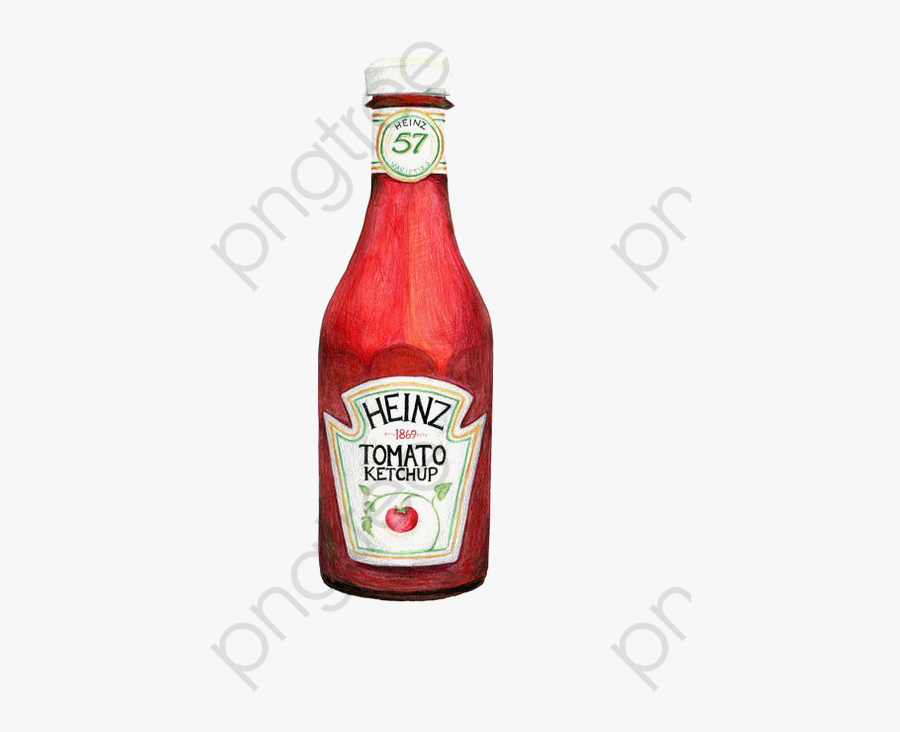Transparent Tomato Sauce Clipart - Heinz Ketchup Png Illustration, Transparent Clipart
