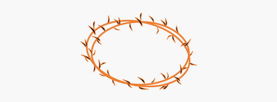 Text,body Jewelry,line - Clipart Of Crown Of Thorns, Transparent Clipart