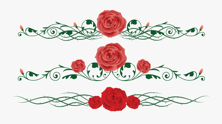And Flower Chinese Rose Vine Thorns, Prickles Clipart - Rose Vine Clipart, Transparent Clipart