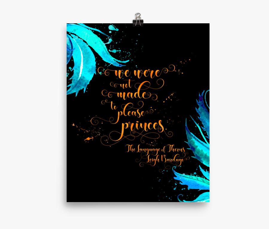 The Language Of Thorns Quote Art P Literary Lifestyle - Language Of Thorns Quotes, Transparent Clipart