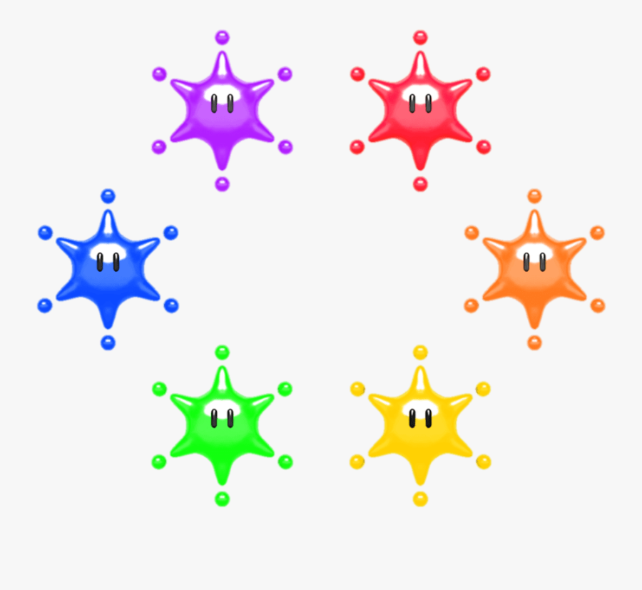Big Paper Mario Stars Color Paint Splash Clipart , - Paper Mario Color Splash Stars, Transparent Clipart