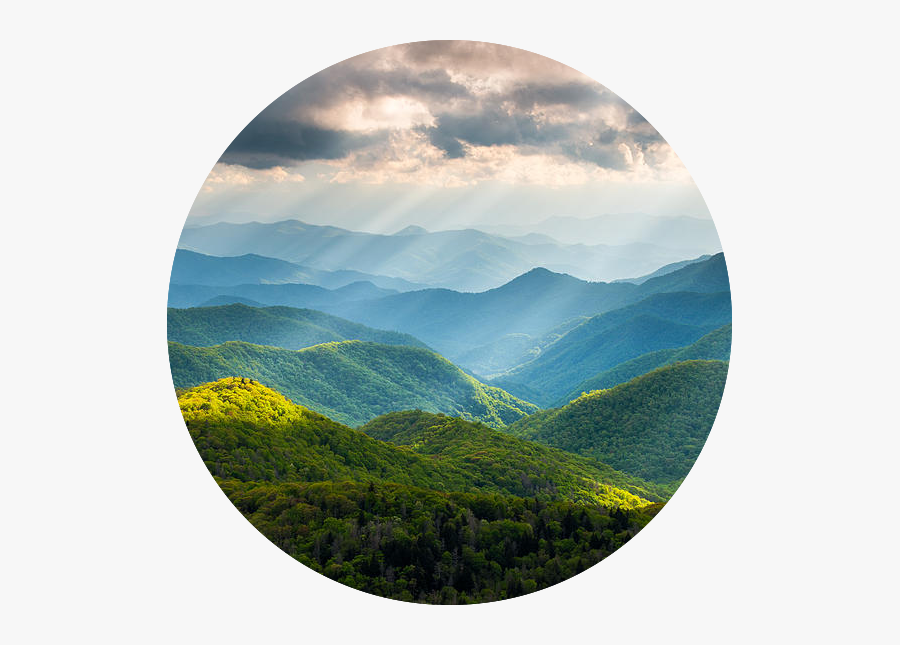 Light On Mountains - Great Smoky Mountains National Park Nc Western North, Transparent Clipart