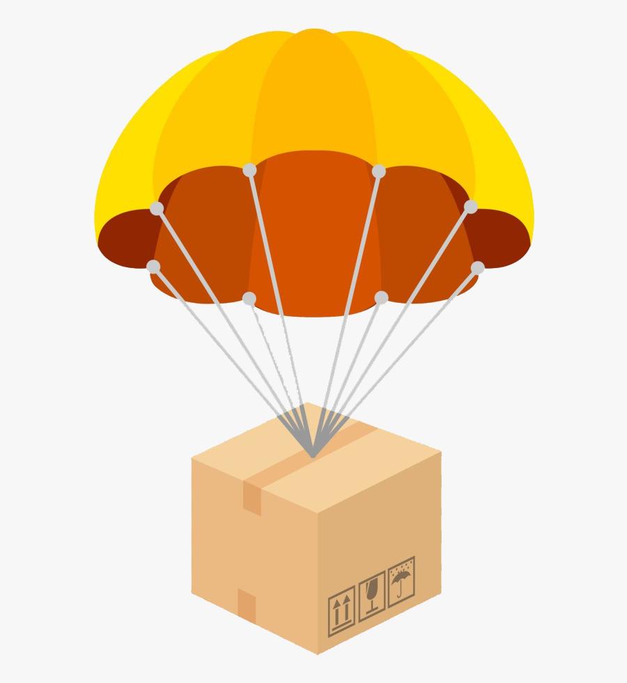 Parachute Png Clipart - Parachute Packages, Transparent Clipart