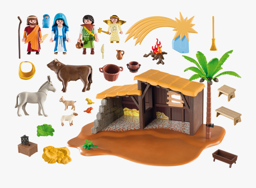 Playmobil 5588 Nacimiento Navidad Nativity Stable Set - Creche De Noel Playmobil, Transparent Clipart