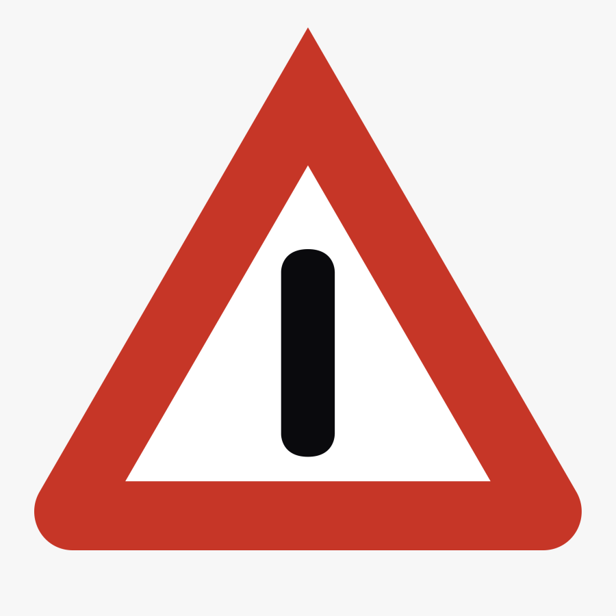 Exclamation Mark In Red Triangle Clipart , Png Download - Warning Sign Svg, Transparent Clipart