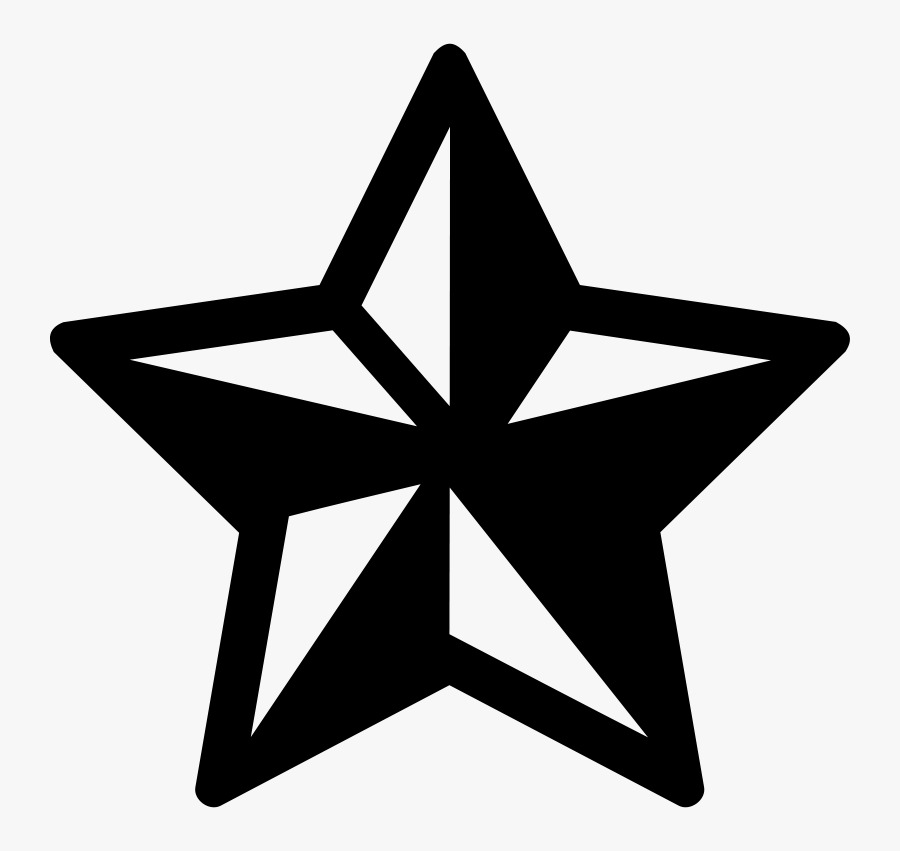 Star Polygons In Art And Culture Pictogram Symbol Computer - Star Objects Black And White, Transparent Clipart