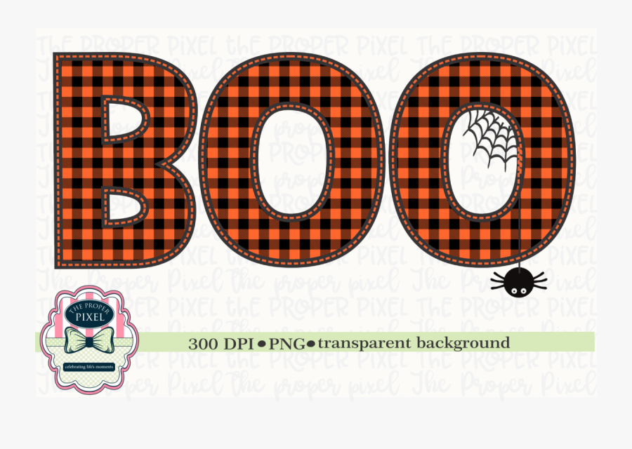 Boo Halloween Orange Sublimation Design, Printable - Circle, Transparent Clipart
