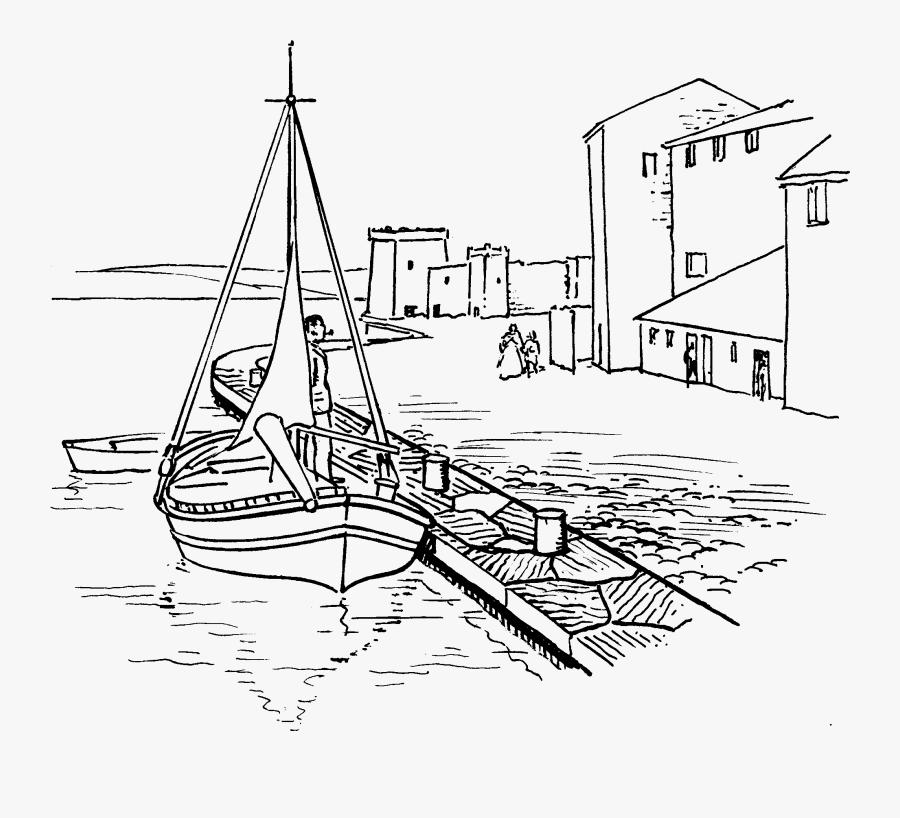Clip Art Dock Clip Art Black And White - Harbour Black And White Clipart, Transparent Clipart