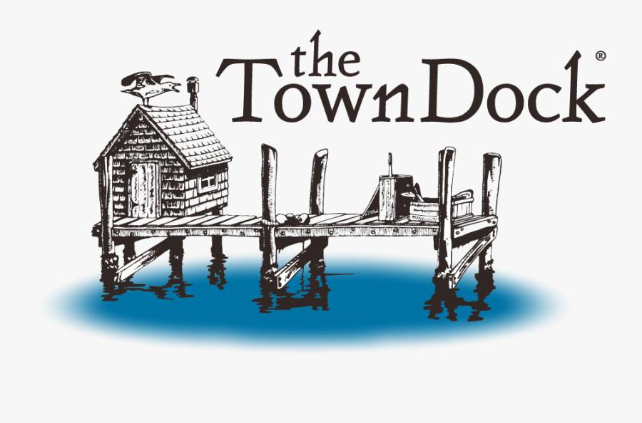 The Town Dock - Town Dock Logo, Transparent Clipart
