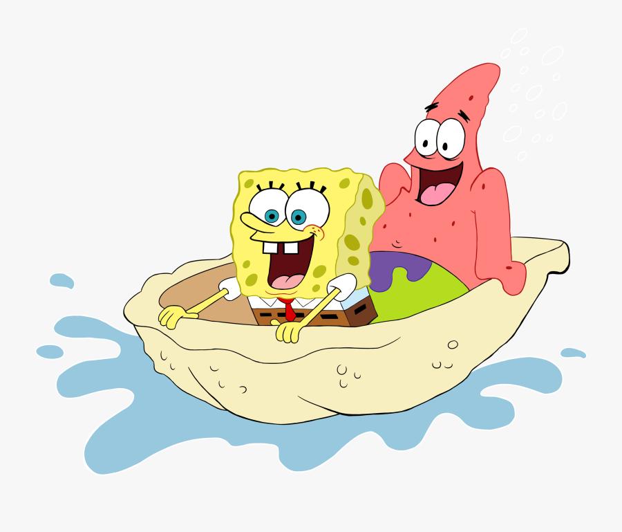 Spongebob Fan Club - Patrick And Spongebob S Drawing, Transparent Clipart