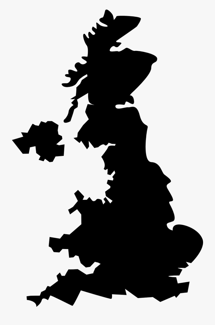 Map Of Mad Cow Disease Prevalence Vs - United Kingdom Map Black, Transparent Clipart