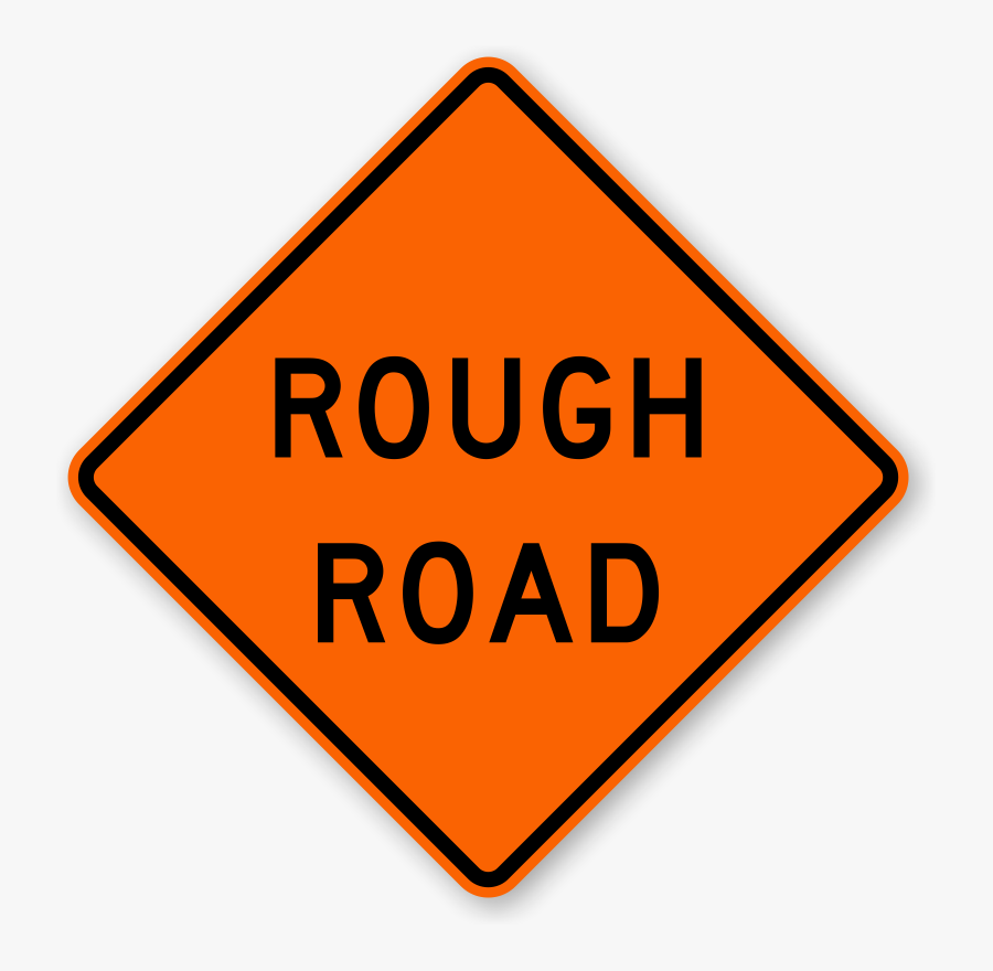 Right Winding Road Warning Signs - Bridge Closed Ahead Sign, Transparent Clipart