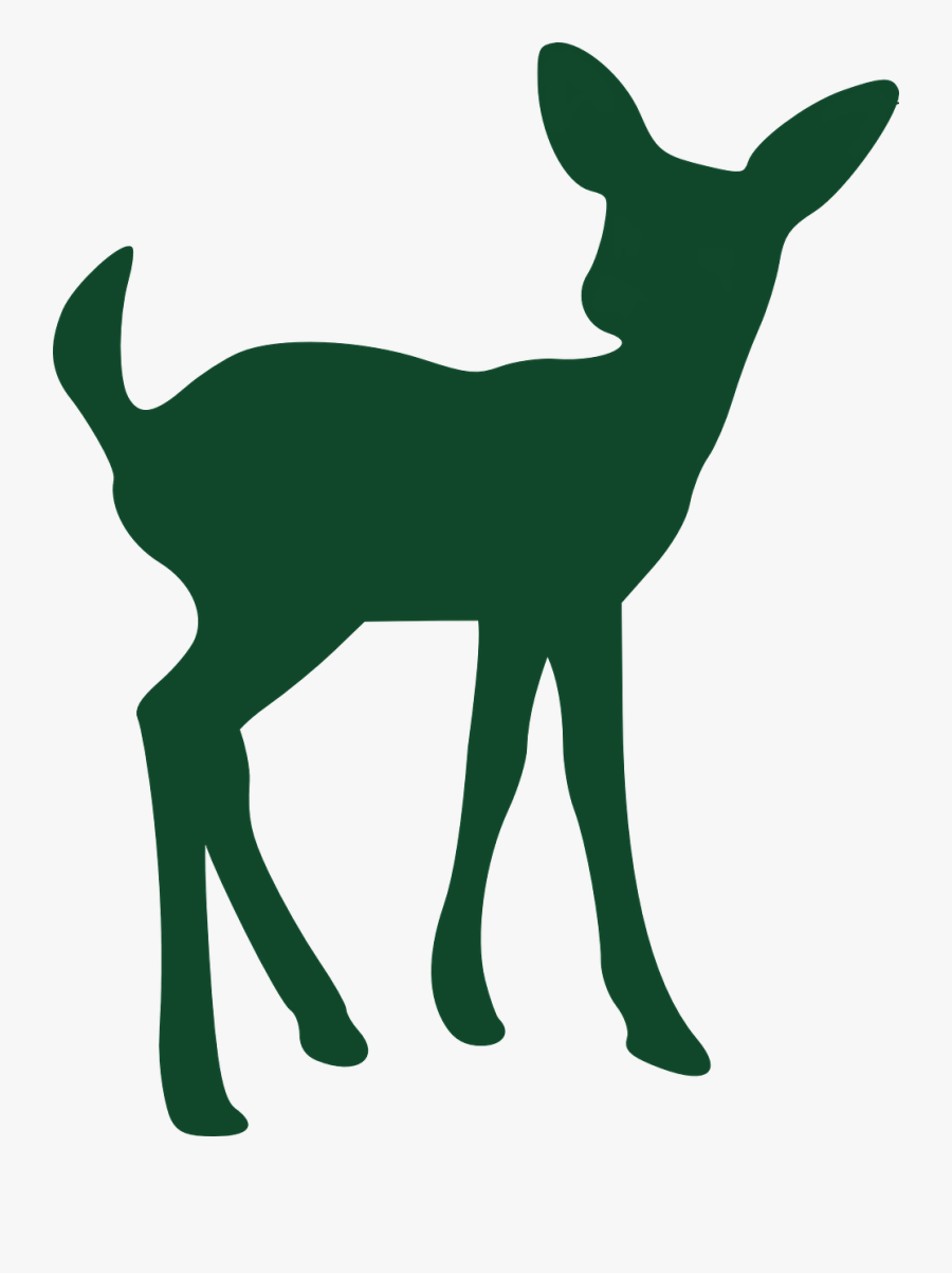 Free Vector Graphic - Baby Deer Silhouette, Transparent Clipart