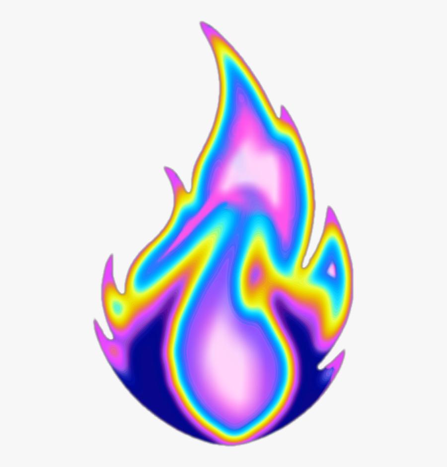 #fire #flame #aesthetic #color #dream #emoji #glitter, Transparent Clipart