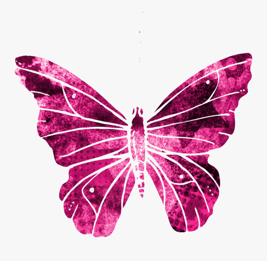 Butterfly, Pink, Clipart, Cute, Flying, Wings, Nature - Butterflies With Invisible Backgrounds, Transparent Clipart