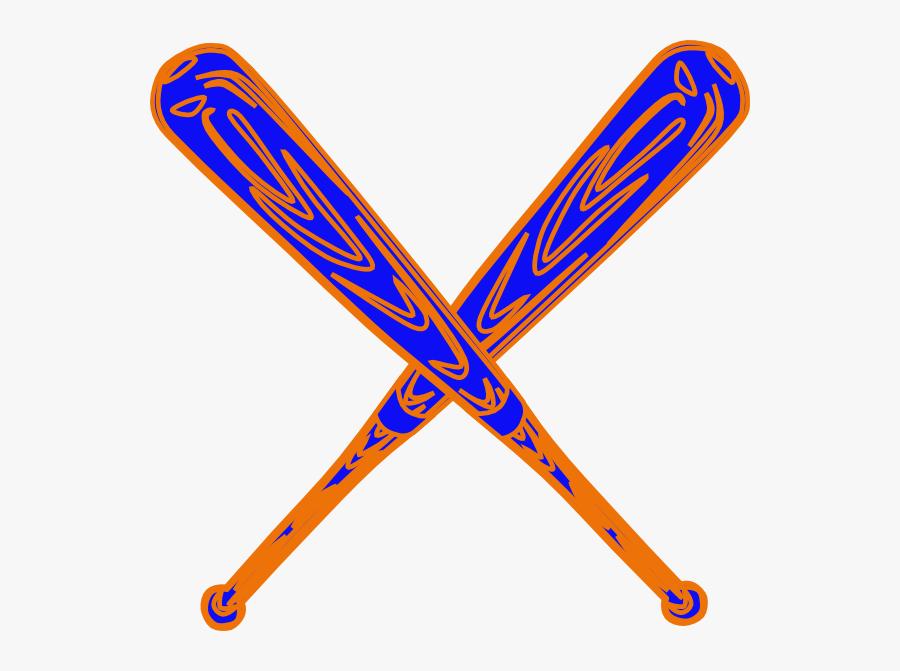Crossed Bats Svg Clip Arts - Baseball Bats Crossed Transparent, Transparent Clipart