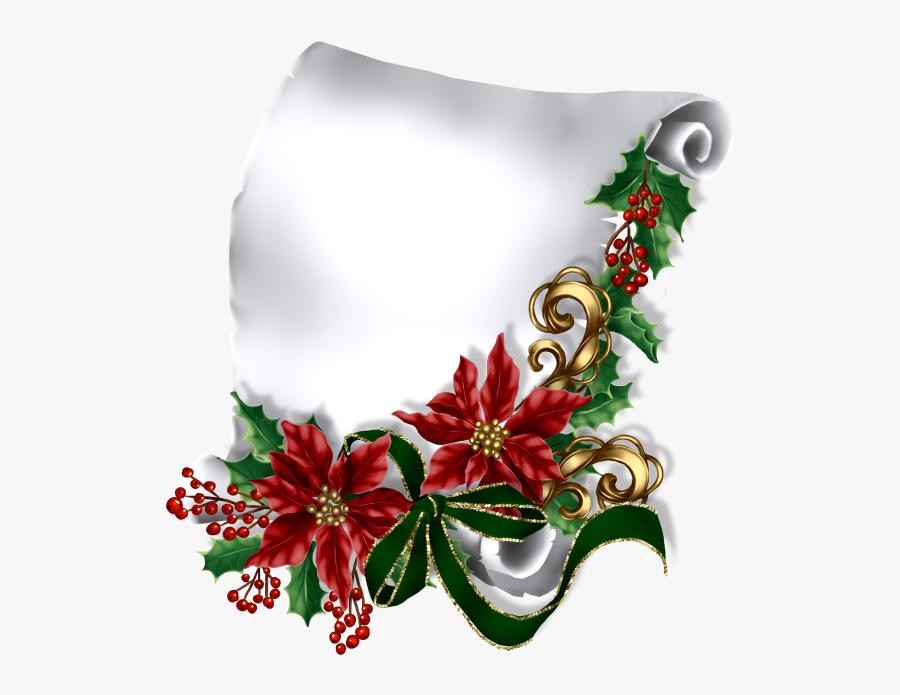 Etiquettes Pancartes Tubes Scrap - Tubes Png Parchemins Noël, Transparent Clipart