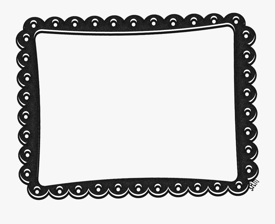 Http Www Printcandee Com Products Scalloped Square - Frames Square Scallop Png, Transparent Clipart