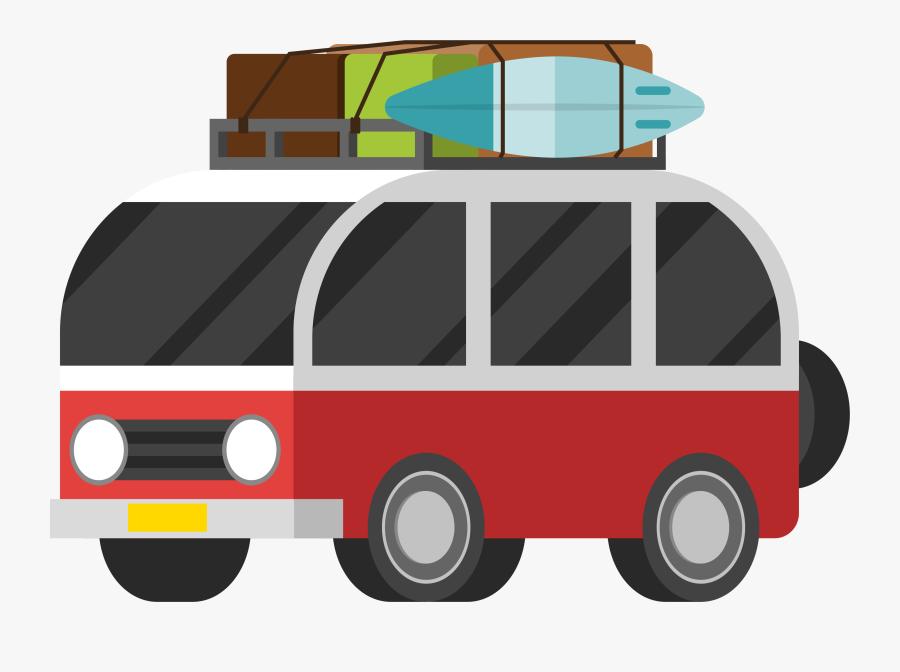 Transparent Family Road Trip Clipart - Travel Car Vector Png, Transparent Clipart