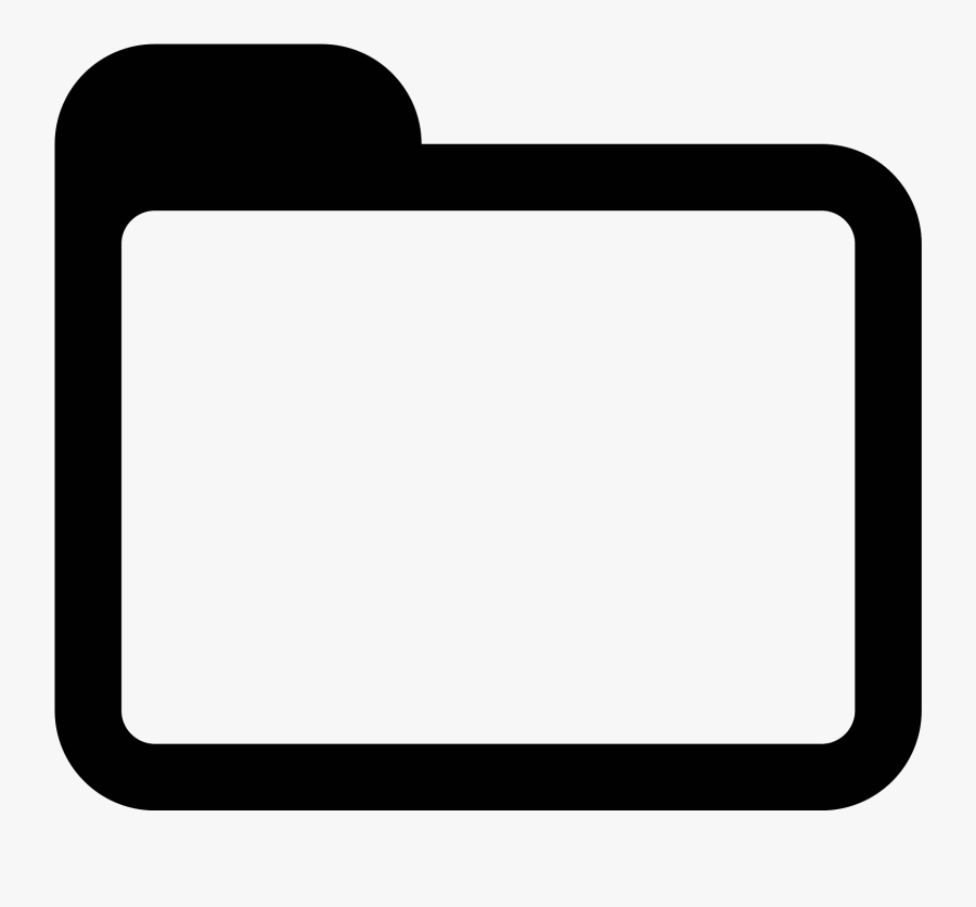 Square Book Clipart - Folder Icon Png White, Transparent Clipart