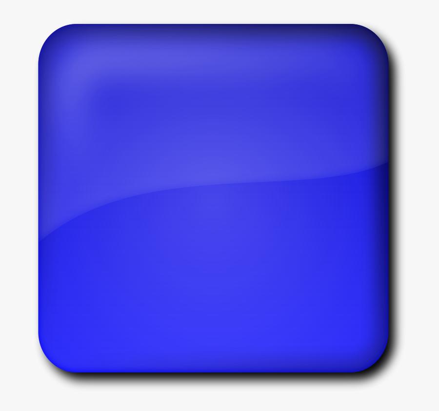 Blue Square Button Clipart - Square Button Png, Transparent Clipart
