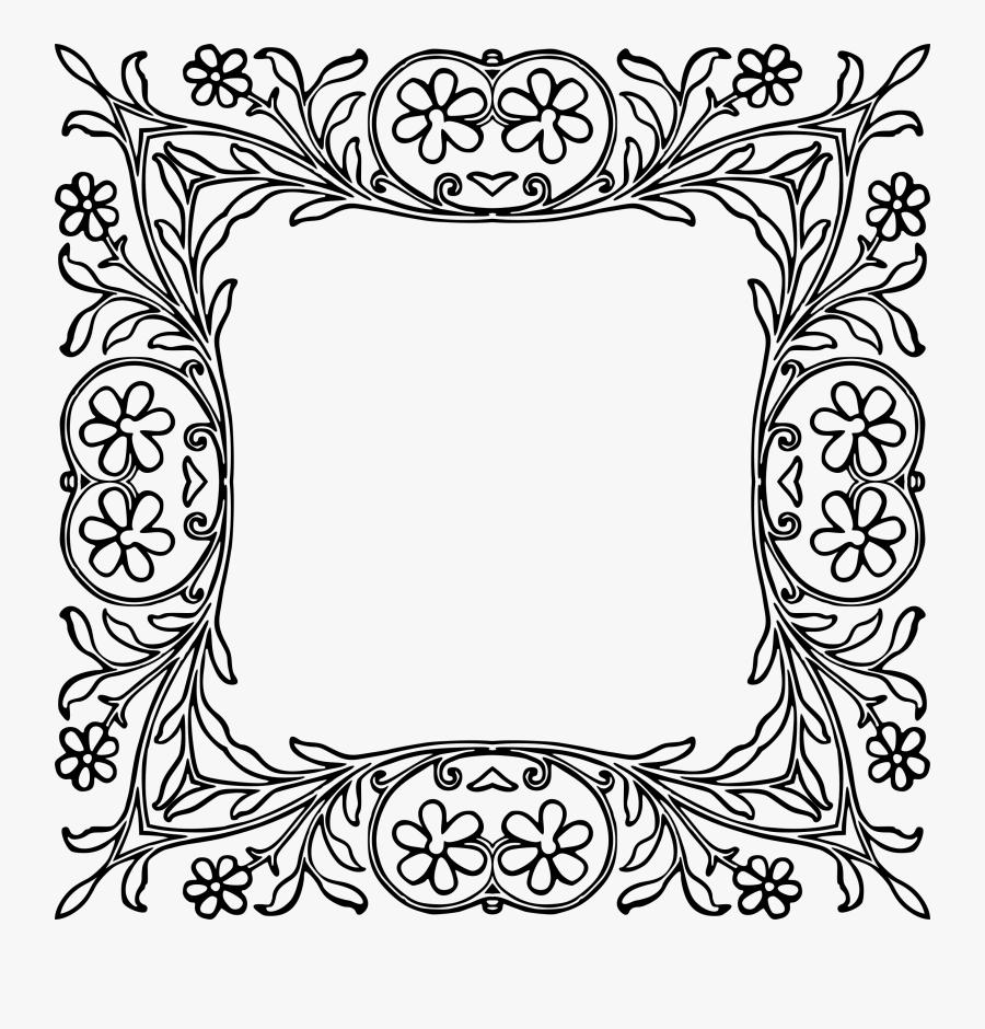 Transparent Square Frame Clipart - Margenes Bonitos Para Colorear, Transparent Clipart