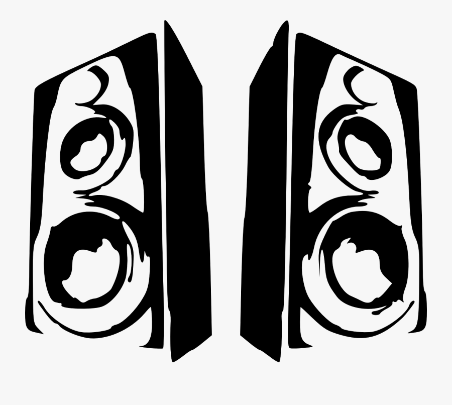 Speakers Sound Audio - Speaker Clipart Black And White Png, Transparent Clipart