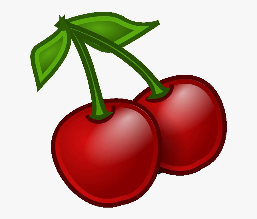 Cherry Clipart Coloring Page - Transparent Background Cherries Png, Transparent Clipart